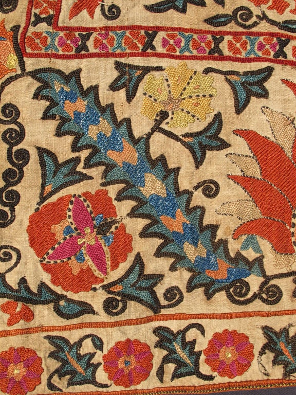 Antique Uzbekistan Suzani Embroidery For Sale at 1stdibs