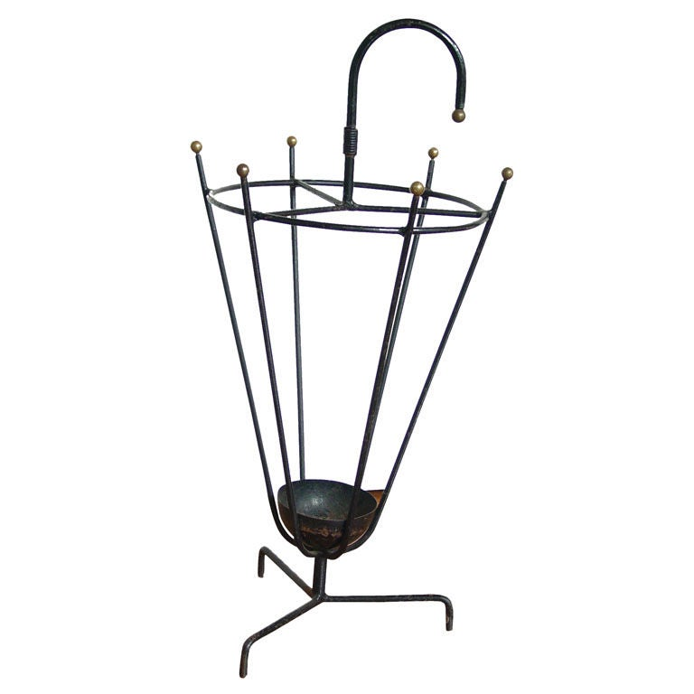Jacques Adnet Umbrella Stand at 1stdibs