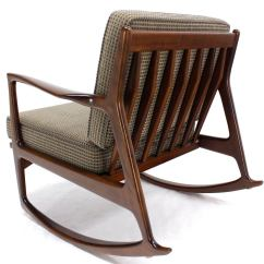 Danish Modern Rocking Chair Portable Lounge Chairs Mid Century By Selig At 1stdibs
