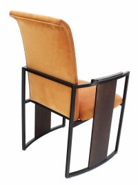 Set of Six Mid-Century Modern Metal and Rosewood Frame ...