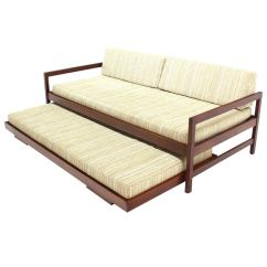 How To Make A Pull Out Sofa Bed More Comfortable Amber Queen Sleeper By Ashley Furniture Solid Walnut Frame Mid Century Modern Trundle