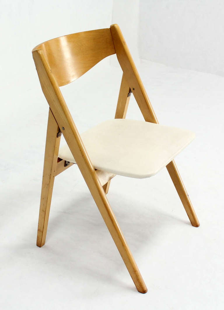 mid century barrel dining chair king george four folding compass style mid-century modern chairs with molded plywood backs at 1stdibs