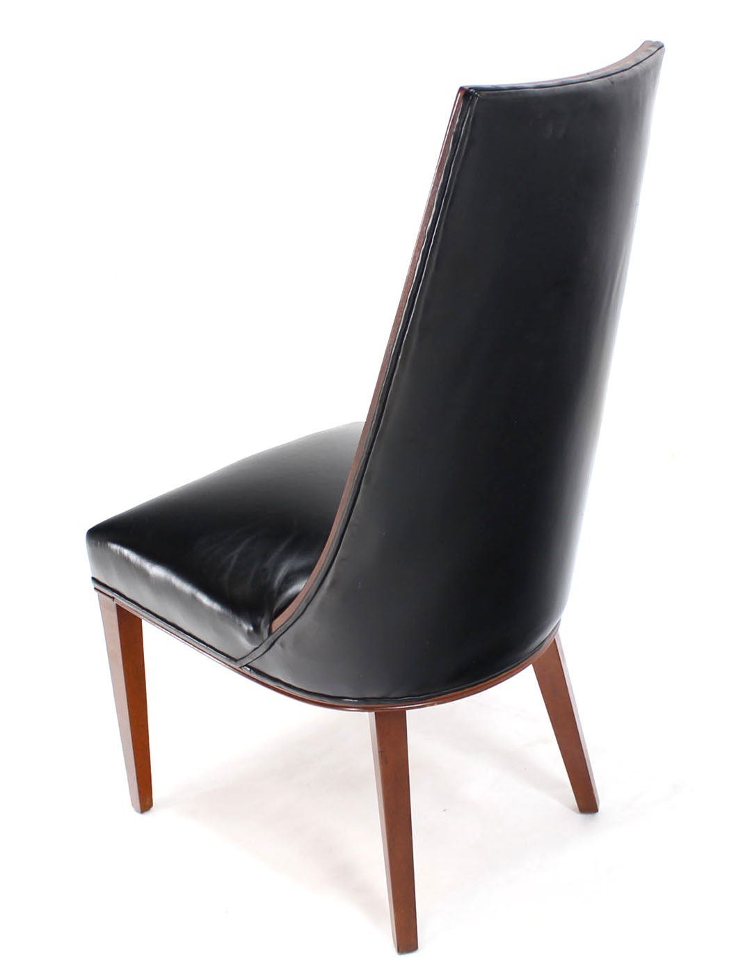 quality leather dining chairs and tables for cafe set of six tall back high