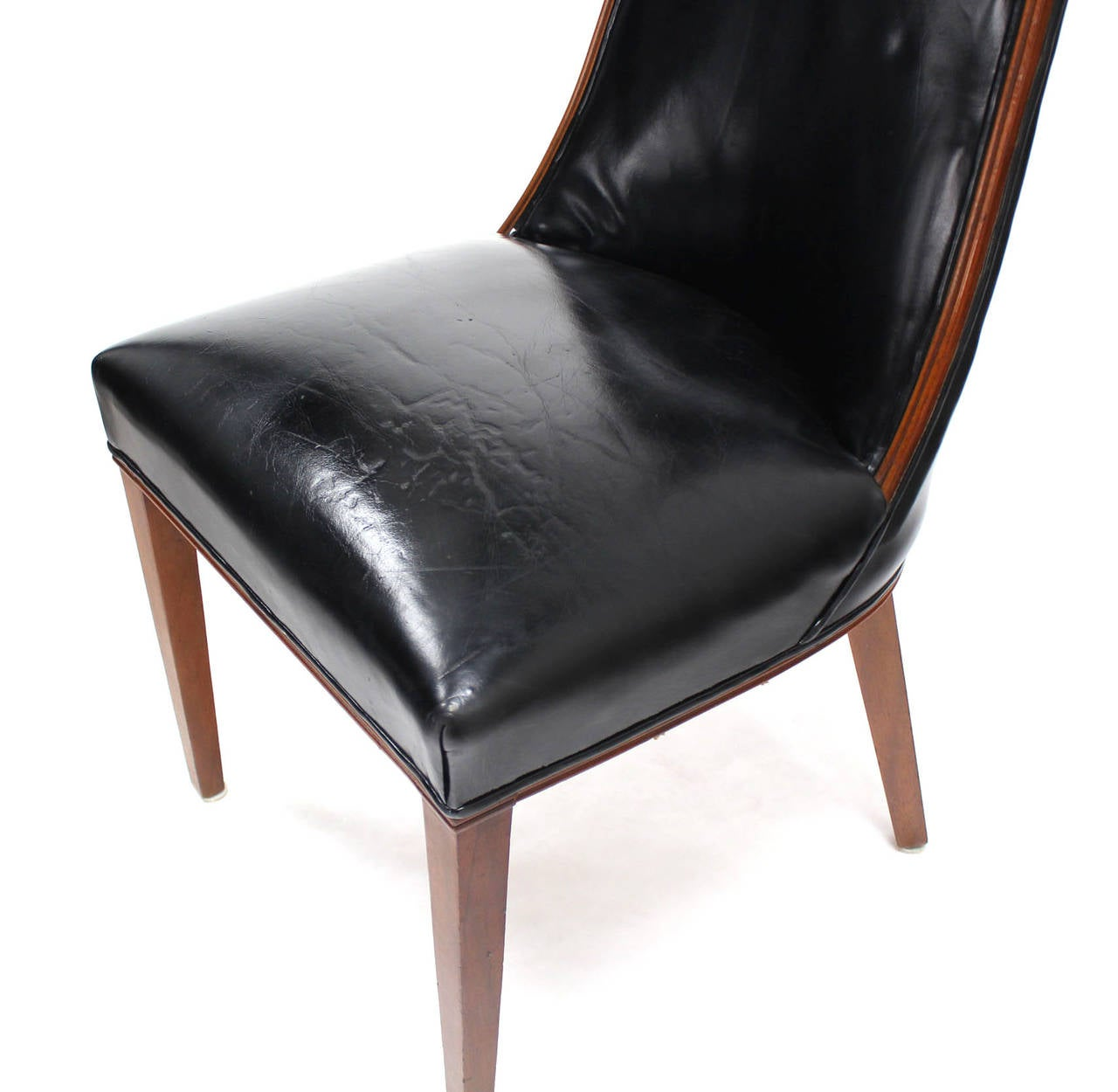 quality leather dining chairs sciatic nerve chair exercises set of six tall back high