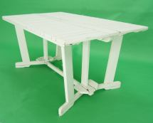 Triconfort French .1960' Outdoor Folding Table And 6