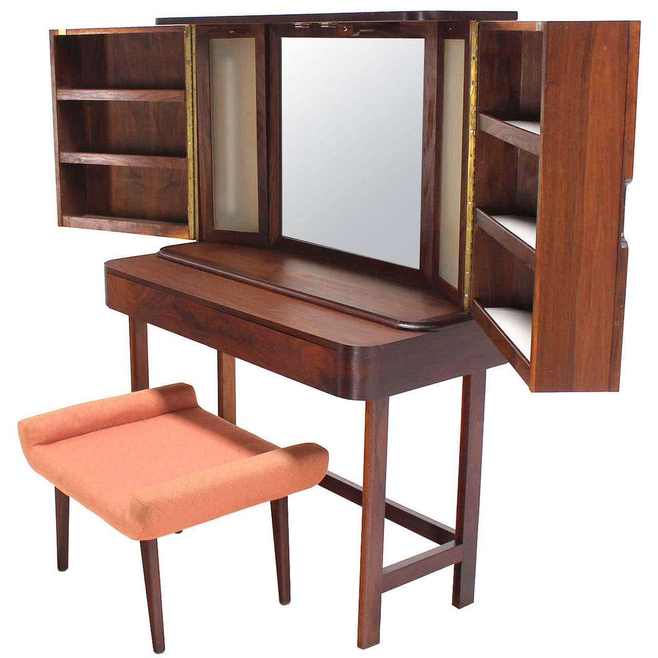 Clear Vanity Chair Rosewood Art Deco Open Up Vanity With Light And Matching