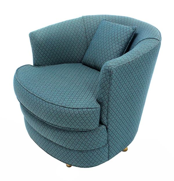 Swivel Barrel Club Chair