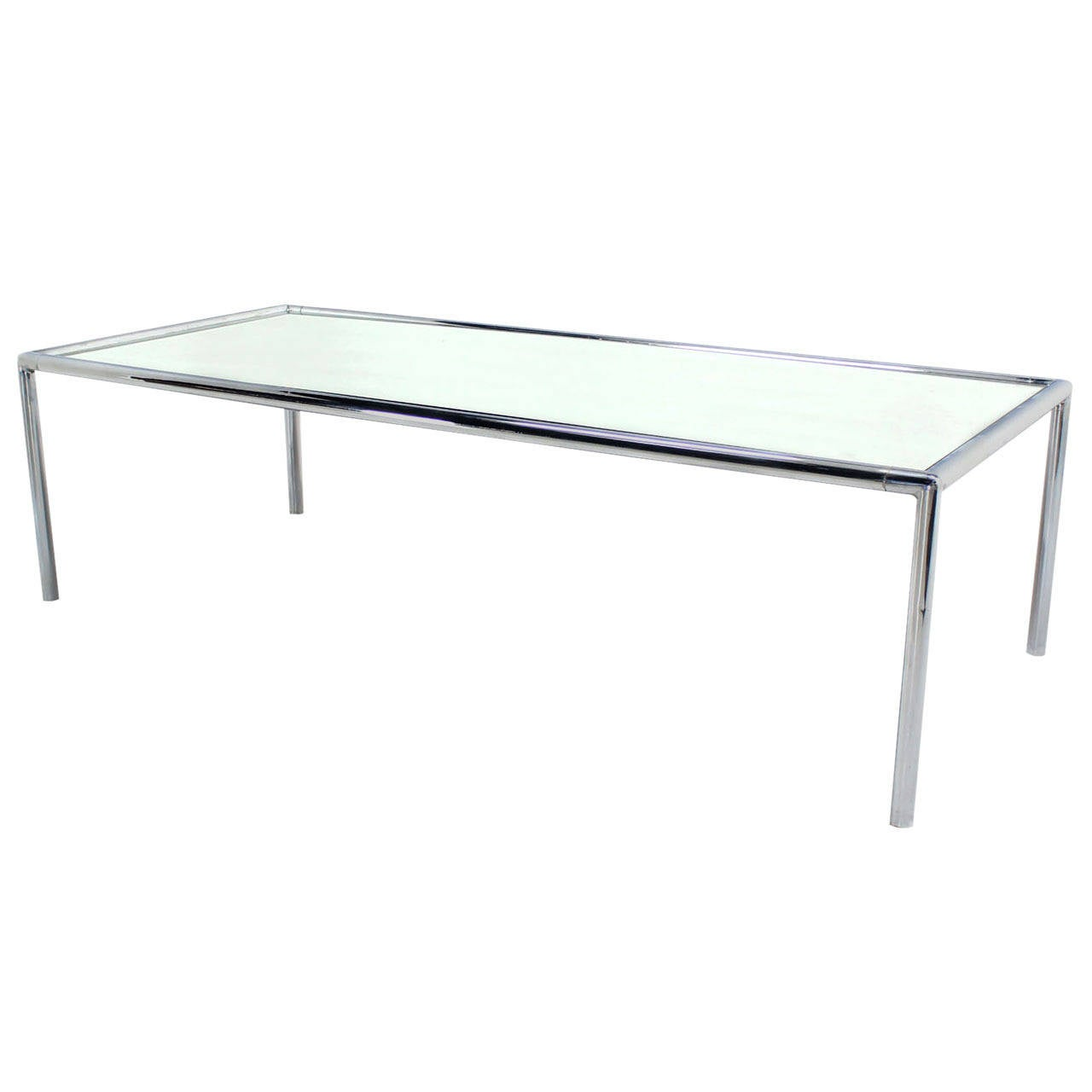 Extra Long Chrome Tubular Design Dining Or Conference