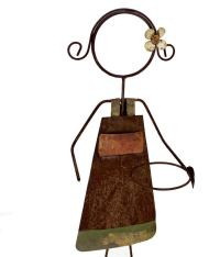 Boy and Girl Wrought Iron Garden Plant Holders For Sale at ...