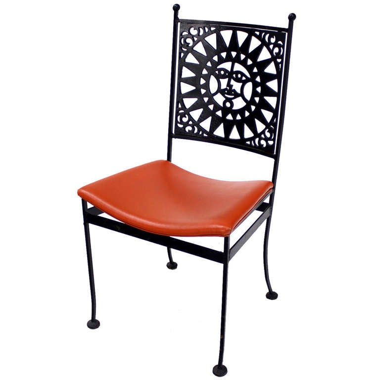 modern steel chair design lift recliner chairs for sale heavy with sunburst mid century