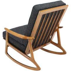Danish Modern Rocking Chair Bumbo Safety Lounge New Upholstery For Sale