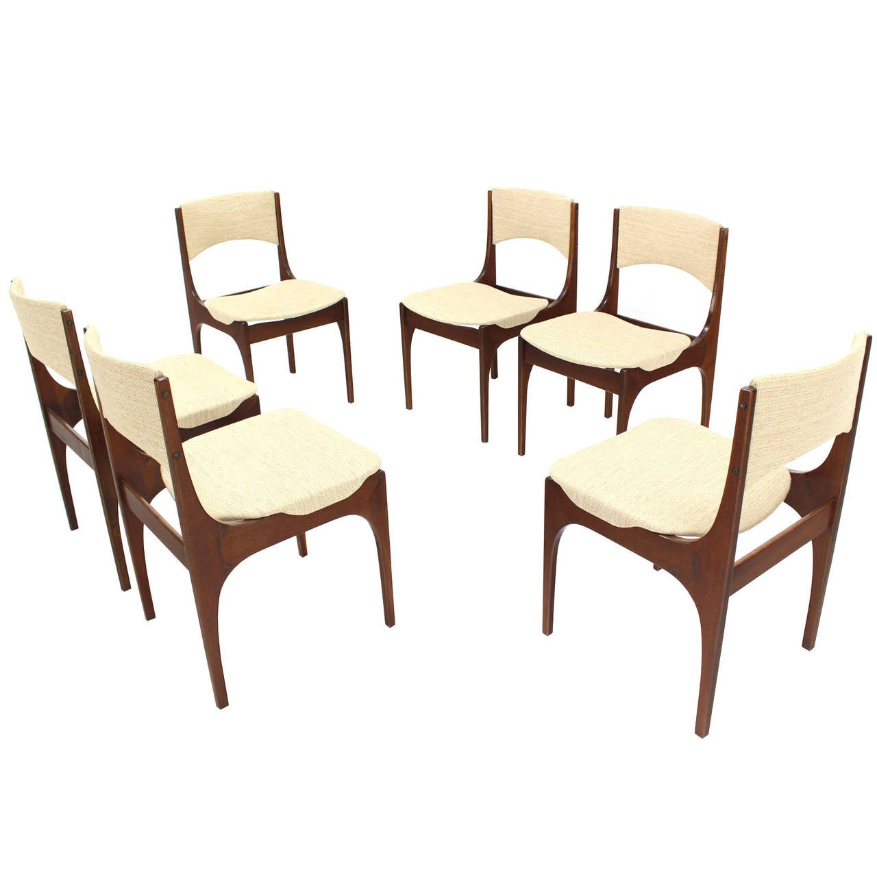 italian designer dining chairs folding target usa set of six modern with new