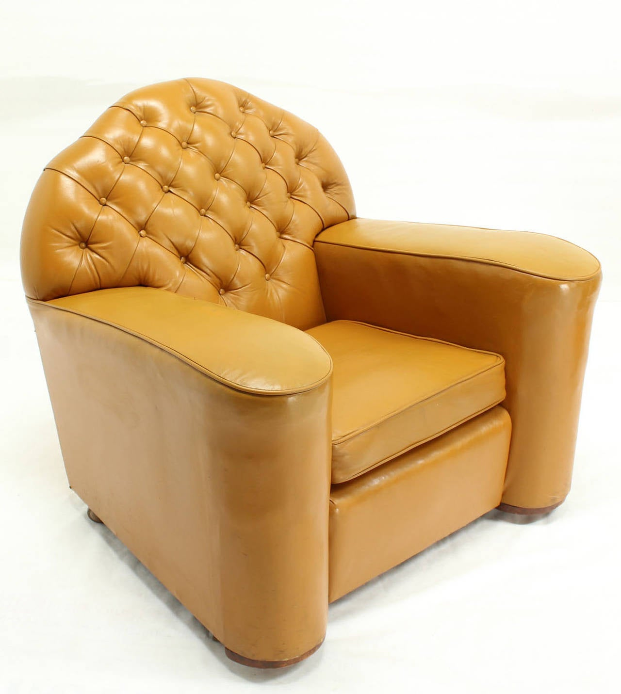big chairs for sale wheelchair umbrella pair of large oversize tufted chesterfield leather lounge