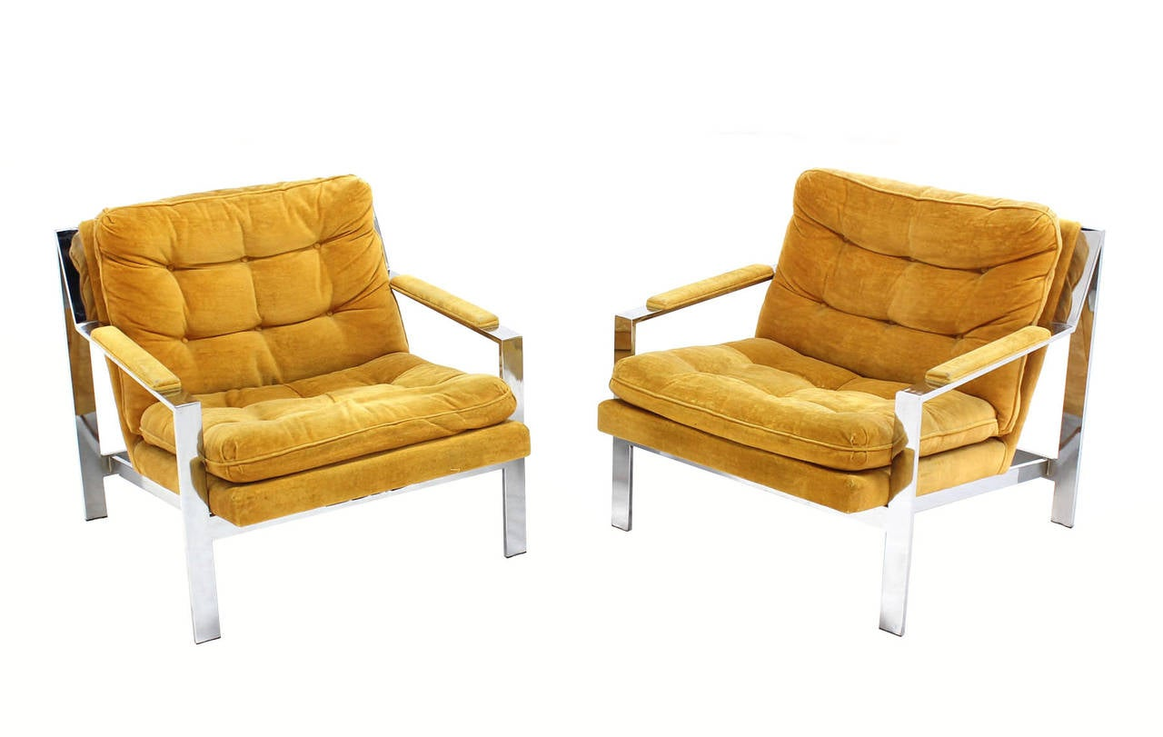 Mid Century Modern Lounge Chairs Pair Of Mid Century Modern Lounge Chairs By Baughman At