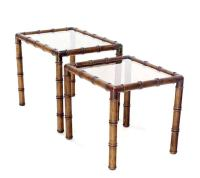 Mid Century Modern Faux Bamboo Nesting Stacking End Tables ...