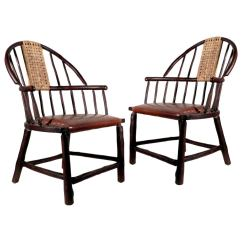 Hickory Chairs For Sale Folding Wood Beach Chair Oversized Handmade Windsor Matching Pair