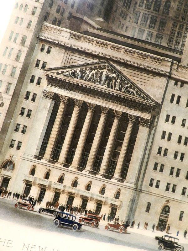 1922 York Stock Exchange Building Print