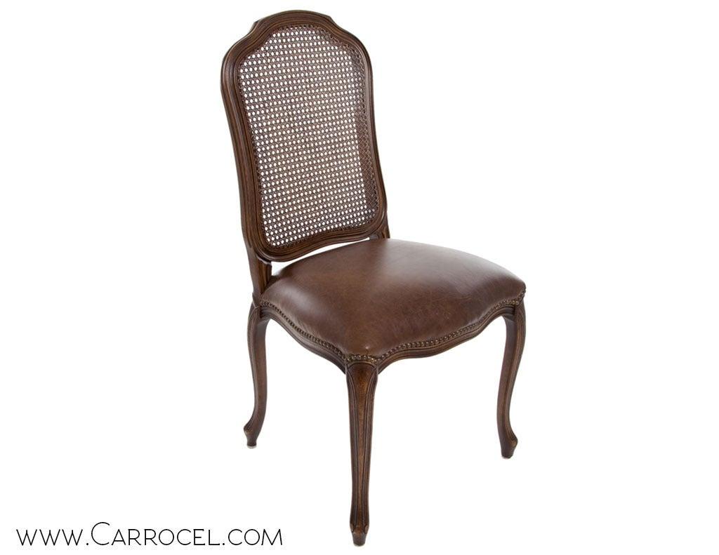 french cane back dining chairs adirondack folding polywood set of 6 italian louis xv side