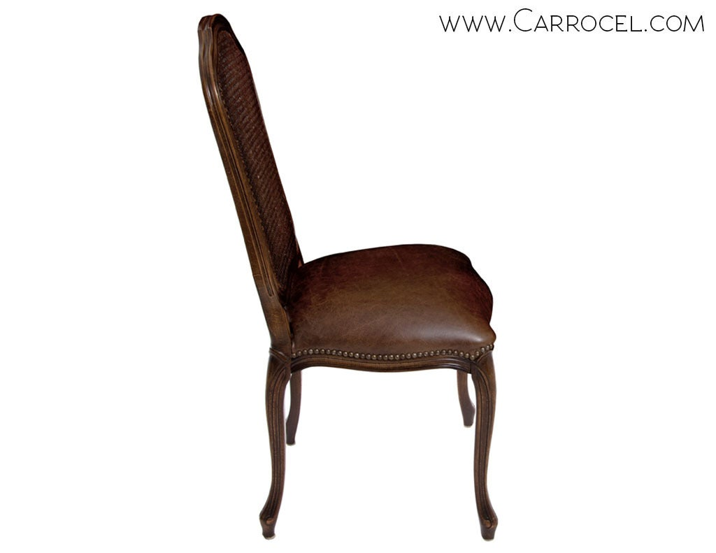 french cane back dining chairs ergonomic chair no set of 6 italian louis xv side