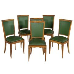 Art Deco Kitchen Chairs Wholesale Pedicure Set Of Six Leather Dining At 1stdibs