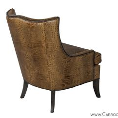 Leather Wingback Chairs Canada High And Boosters Custom Croc Lounge Chair At 1stdibs