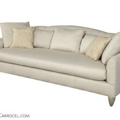 Baker Furniture Max Sofa Blue Leather With Chaise Soiree For Sale At 1stdibs
