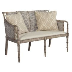 Mid Century Style Sofa Canada Duke Pebble Grey Fabric Futon Bed Distressed Cane Settee For Sale At 1stdibs