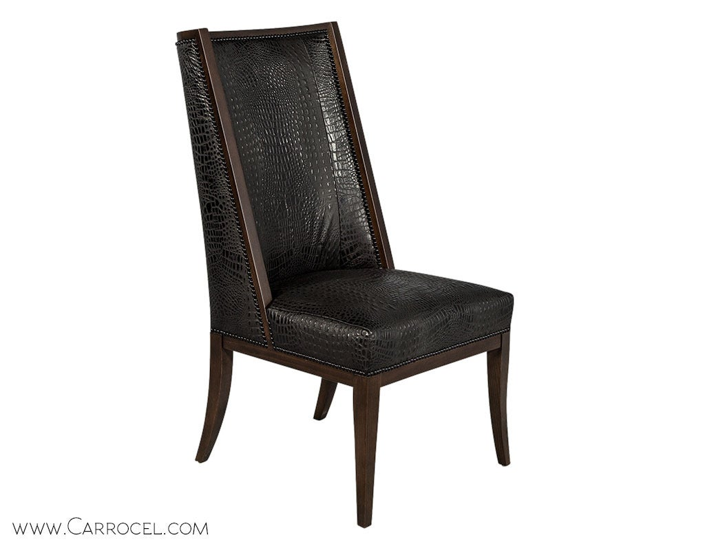 high back dining chairs office arm set of eight custom d 39barto for