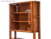 Mid-Century Modern Teak Display Cabinet at 1stdibs