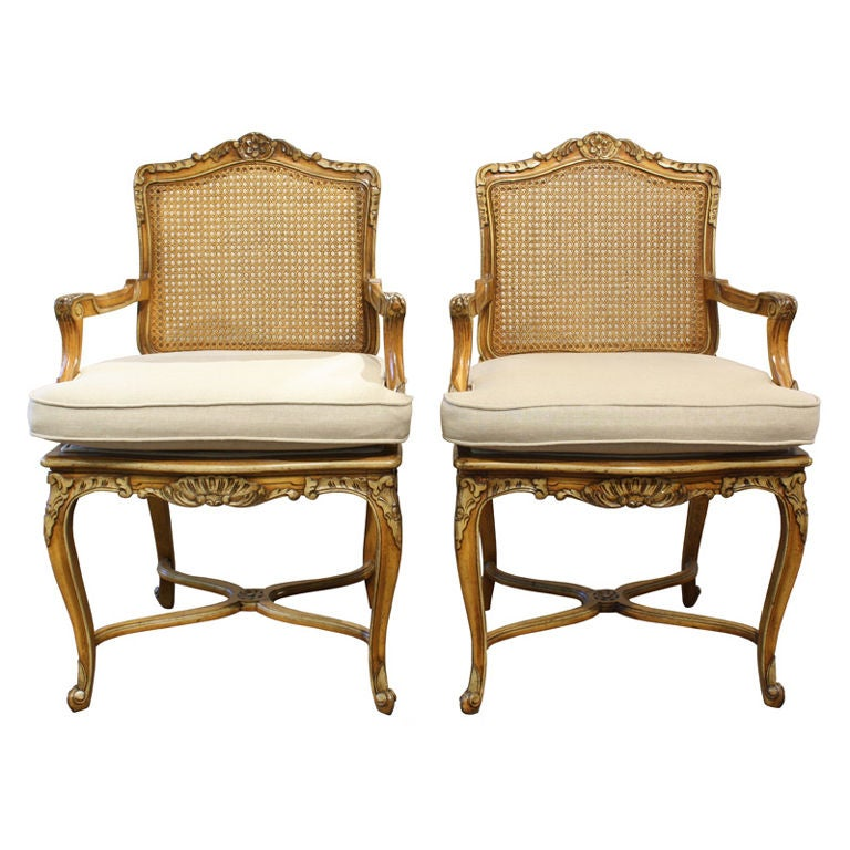 antique cane seat dining chairs teak lawn french walnut carved back arm at 1stdibs