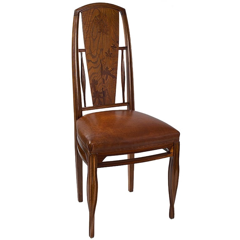 French Art Nouveau Side Chair by Louis Majorelle at 1stdibs
