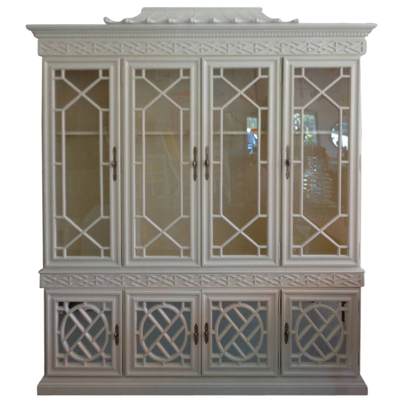 Fretwork Chippendale Pagoda Cabinet At 1stdibs