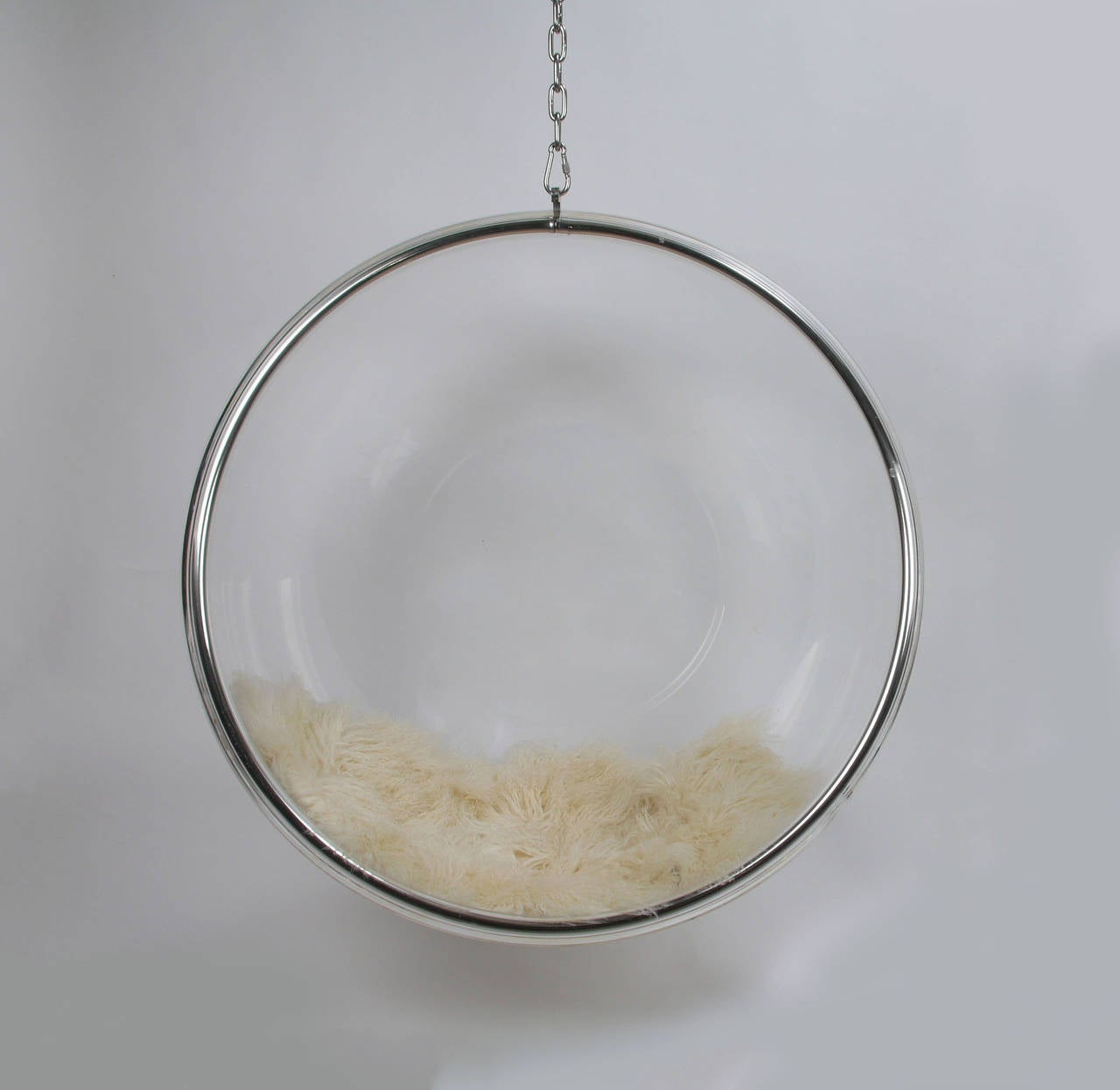 perspex hanging chair fuzzy feet gliders eero aarnio by adelta lucite bubble for sale