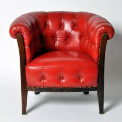 Red Chairs For Sale Swivel Chair Cushion Covers Vintage Tufted Leather At 1stdibs