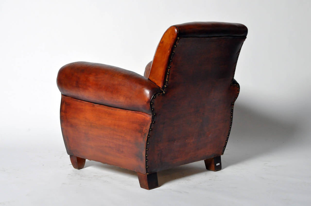 French Club Chair Vintage French Leather Club Chair At 1stdibs