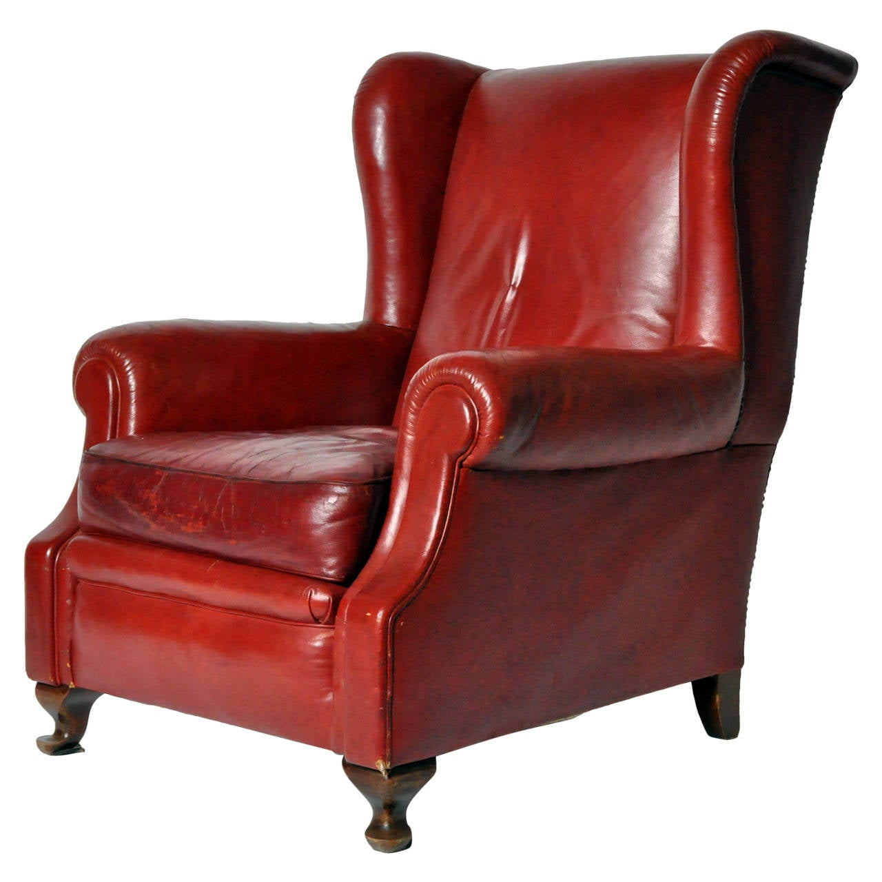 arm chairs for sale aeron task chair review vintage english wingback leather armchair at 1stdibs
