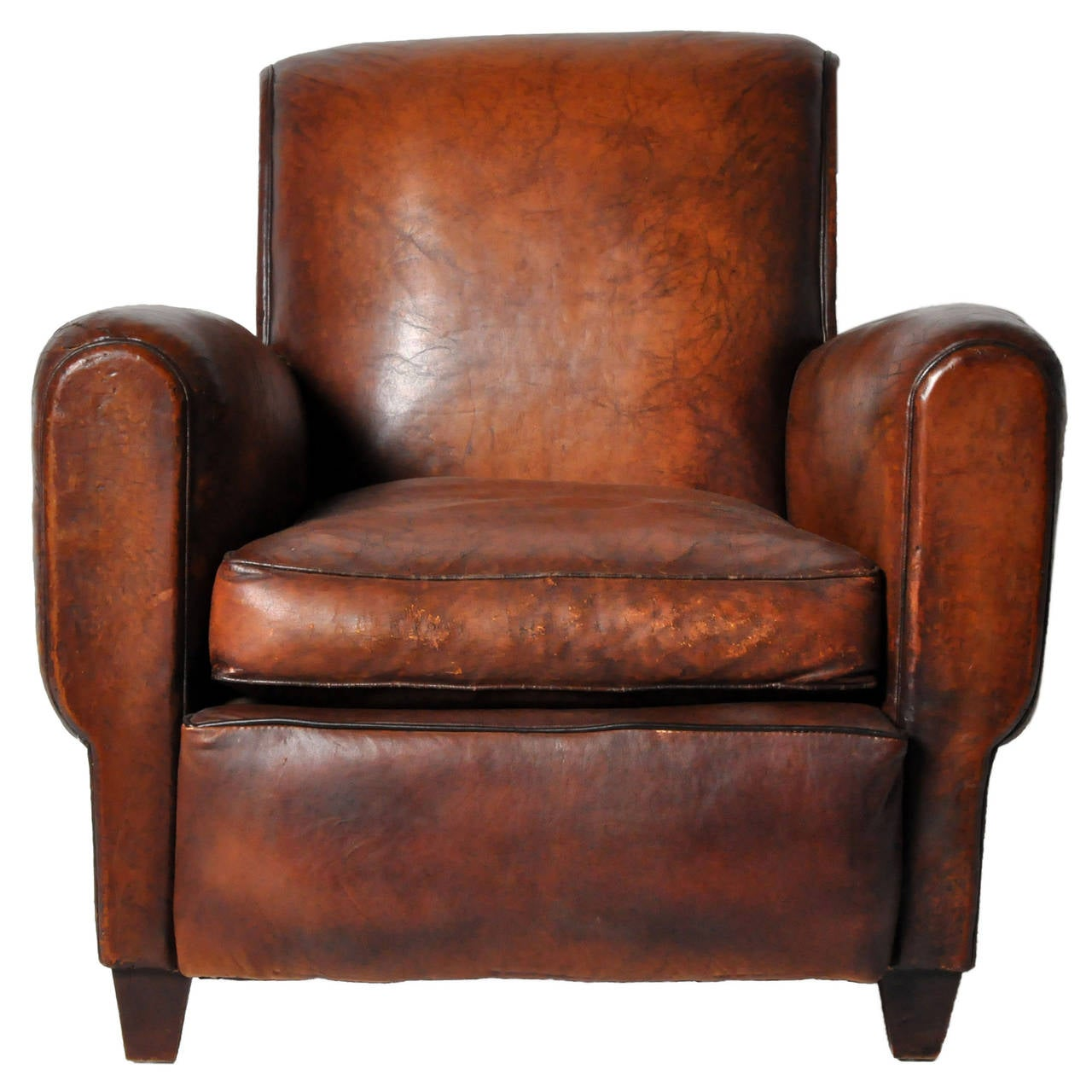 art deco club chairs leather medical recliner chair vintage at 1stdibs