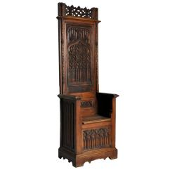Throne Chair For Sale Windsor Rocking Cushions Gothic Style At 1stdibs