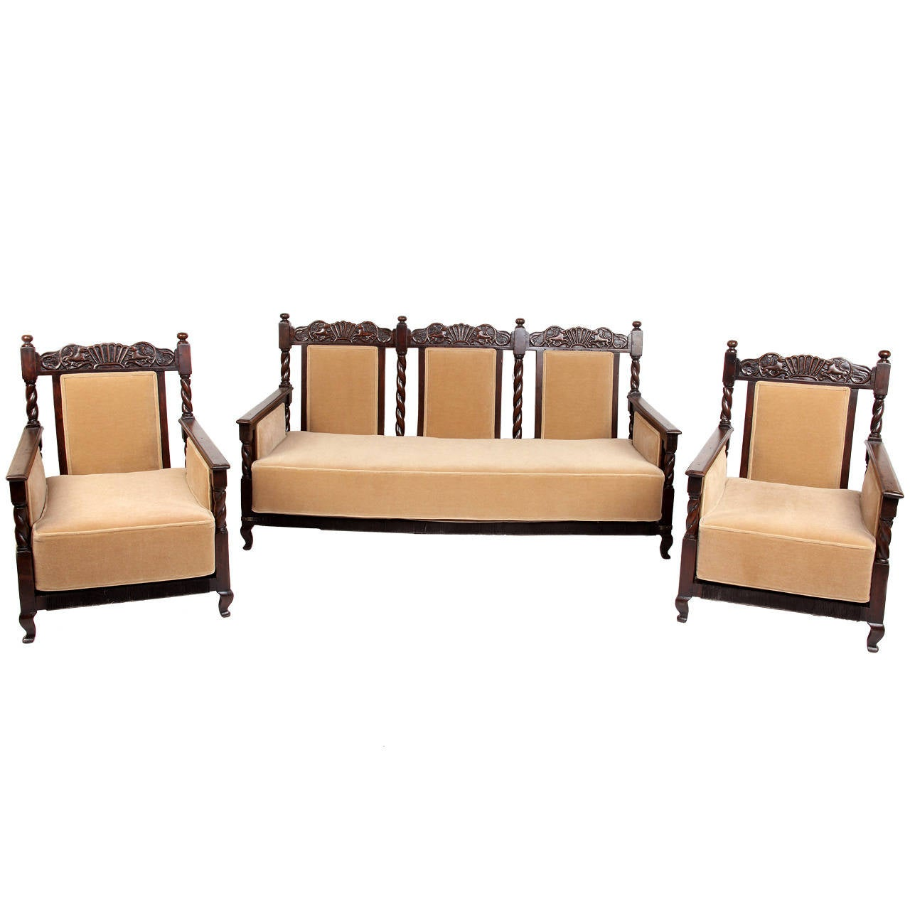 colonial sofa sets india snuggle blankets 3 piece british living room suite at 1stdibs