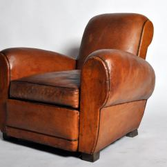 Art Deco Club Chairs Leather Swing Chair For Indoor French At 1stdibs