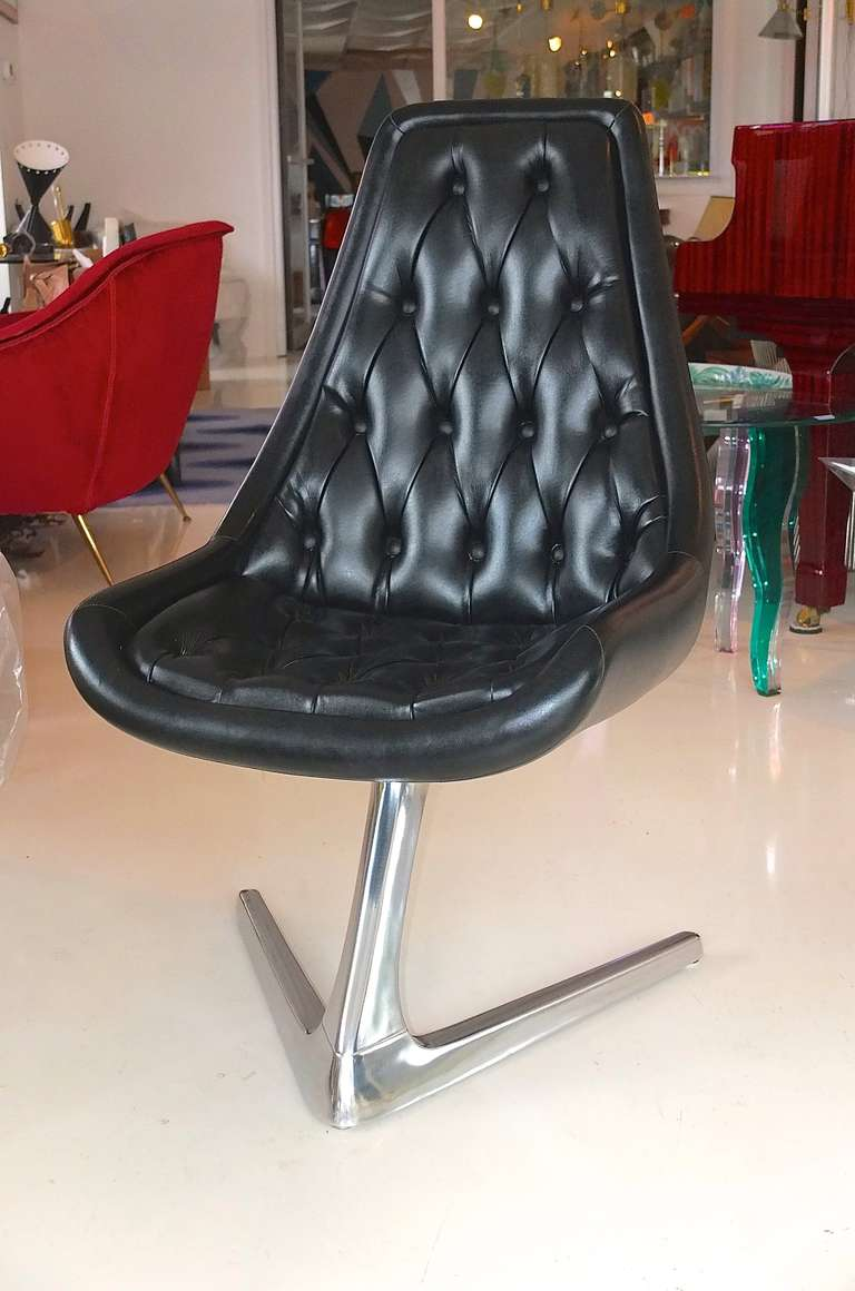 danish modern dining chair conference room tables and chairs set of 4 sculpta 'star trek' swivel by chromcraft at 1stdibs