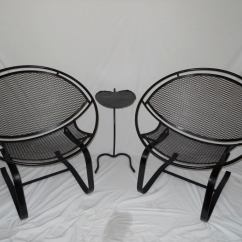 Iron Chair Price Kid Adirondack Plans Pair Of Salterini Cantilever Spring Chairs At 1stdibs