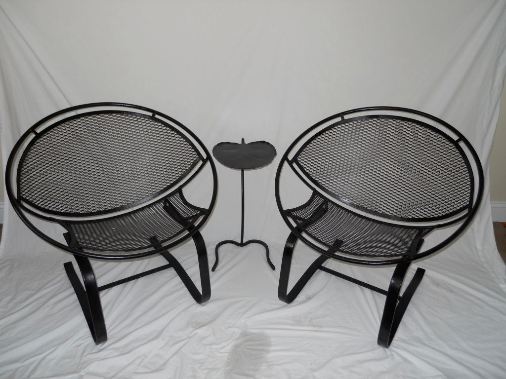 iron chair price kd smart australia pair of salterini cantilever spring chairs at 1stdibs