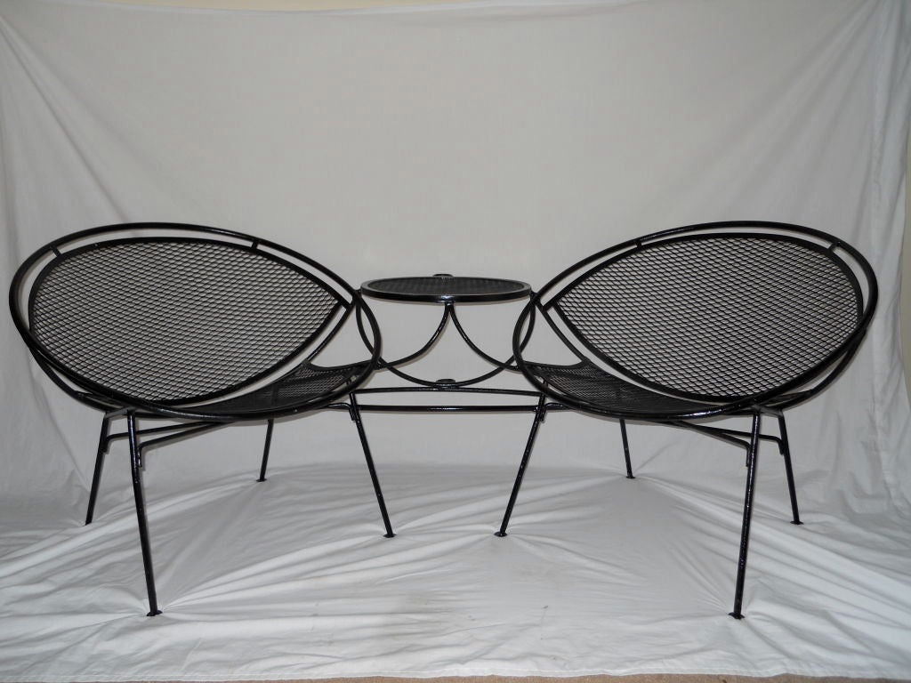 tete a chair outdoor cool office chairs vintage by salterini at 1stdibs