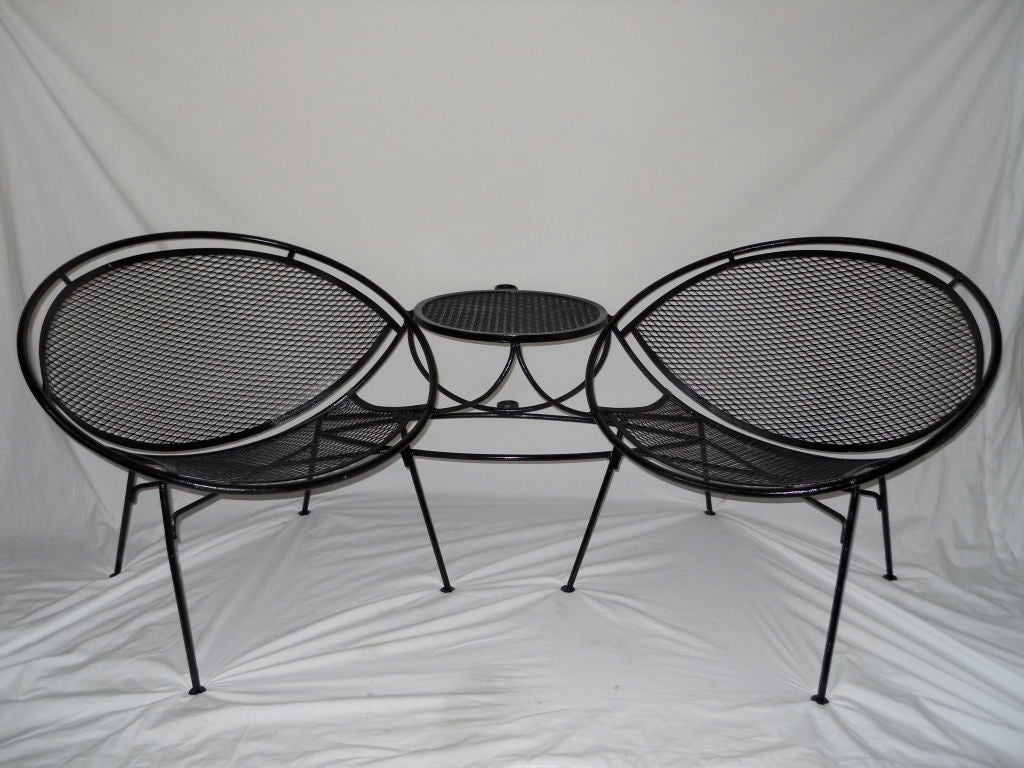 tete a chair outdoor cheap chaise lounge chairs vintage by salterini at 1stdibs
