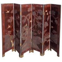 Chinese Six-Panel Decorative Folding Screen, Circa 1780 ...