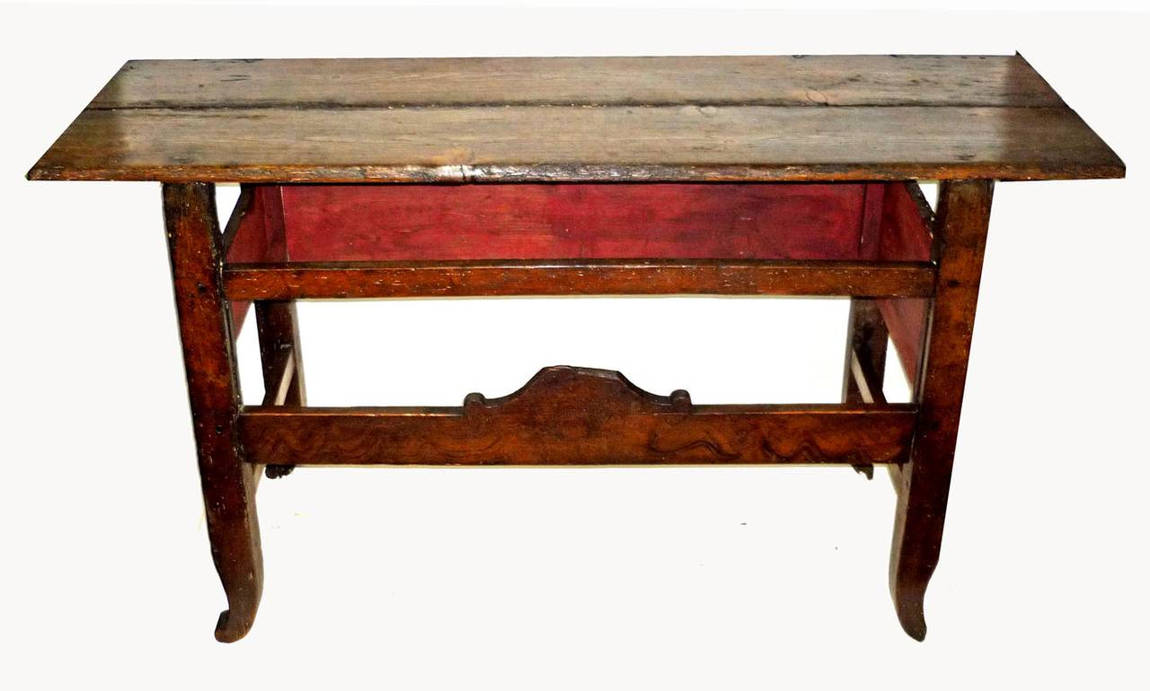 country cote sofa table brown paint for leather french grain painted console side at 1stdibs