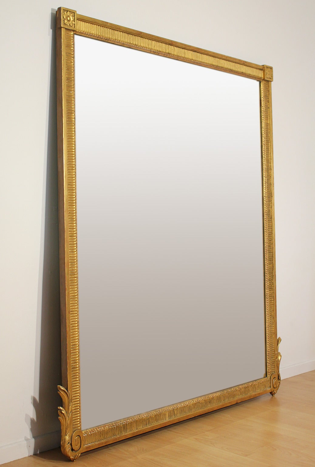 Large Antique French Neoclassical Decorative Gold Framed