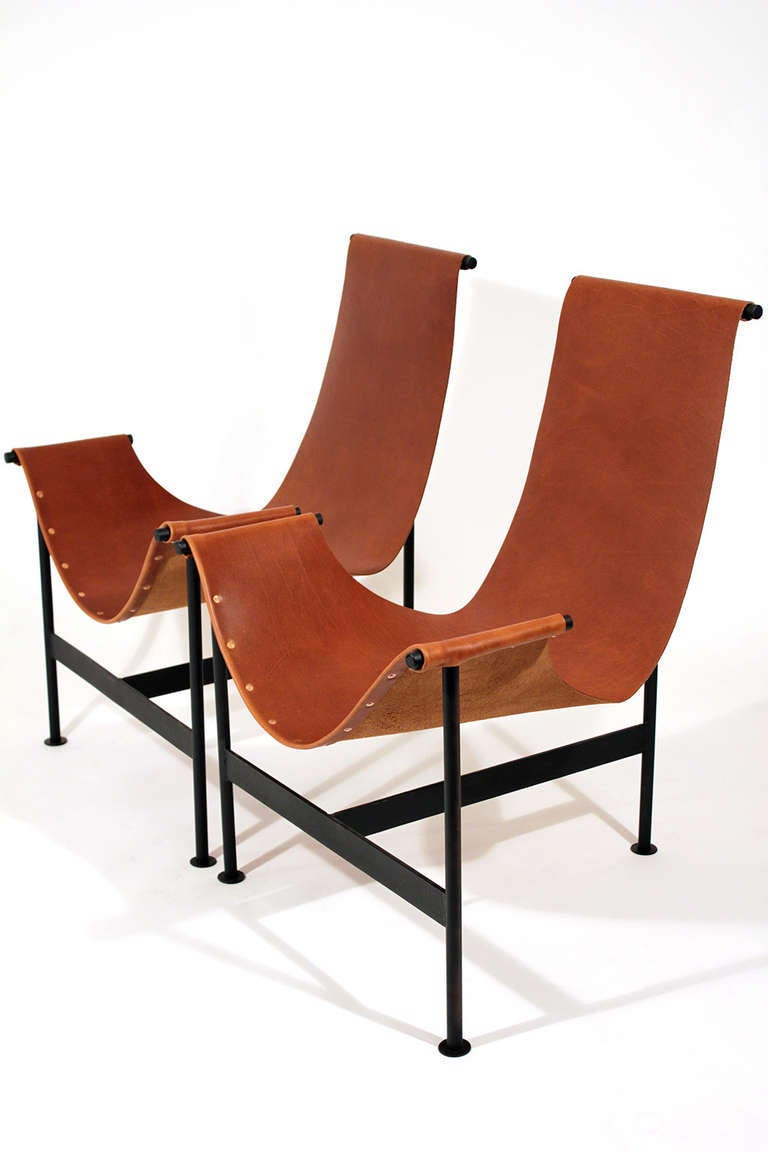 leather sling chairs lycra chair covers and sashes lounge at 1stdibs mid century modern for sale