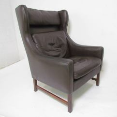 Modern Wing Chair Swivel Markus Pair Of Danish Wingback Leather Lounge Chairs By